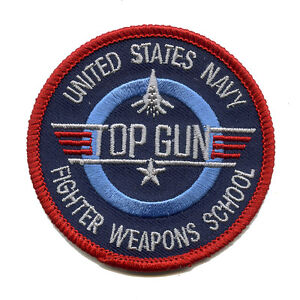USA TOP GUN Navy Fighter Weapons School Patch ( Rund ) Aufnäher Aufbügler 502