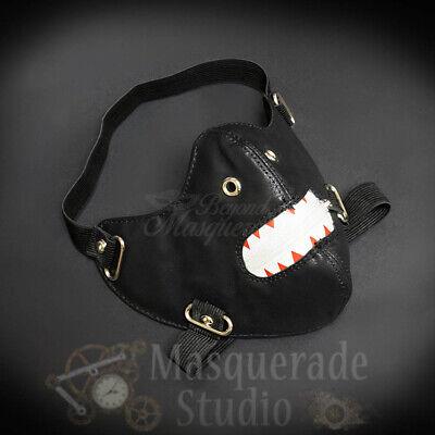 Zipper Mouth Costume (Ken Kaneki Inspired Punk Leather Costume Zipper Mouth Masquerade Mask)