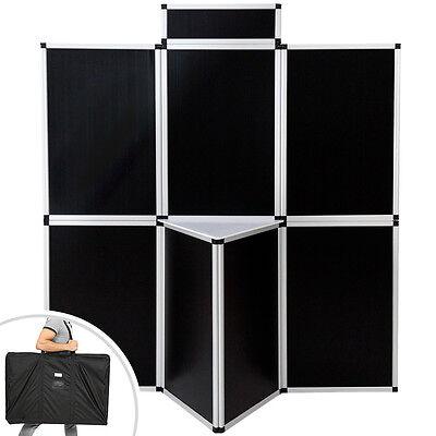 Promotionswand Messestand Faltwand Faltdisplay Messewand 180x200 cm schwarz