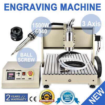 Cnc Router 3 Axis 6040 Engraving Mill Engraver Machine 3d Metal Wood Cut 1.5kw