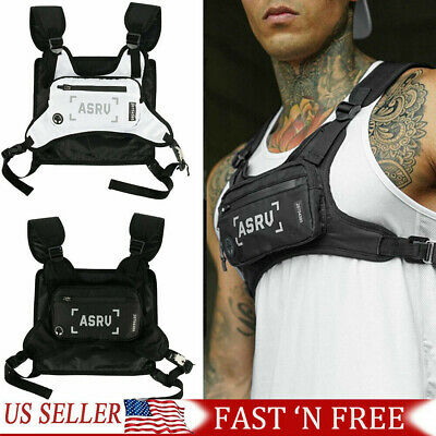 reflective tactical men chest rig bag pouch