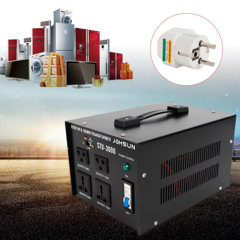 3KW Voltage Transformer Converter 110V⇋220V Step-Up/Down 5 Outlets with DC5V USB