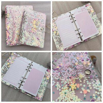 A5a6 Loose Leaf Ring Binder File Folder Notebook Sequins Cover Shake Card