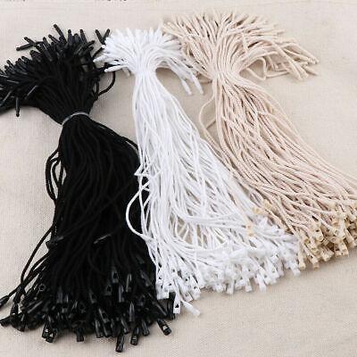 200pcs Cotton Hang Tag Rope Cords String Snap Lock Pin For Garment Tags Labels