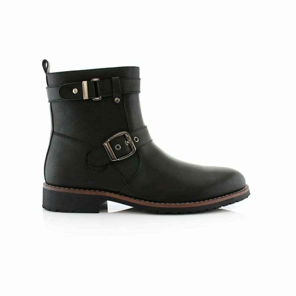 Men's Polar Fox WYATT Black Dress Work Casual Boots sz 9 Zip