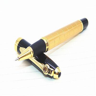 Baoer 701 Golden Line Business Office Medium Nib Rollerball Pen New