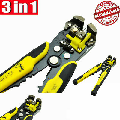 8 Metal Self-adjusting Wire Stripper Cable Cutter Electrician Crimping Tool
