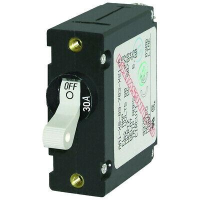 Blue Sea 7222 AC / DC Single Pole Magnetic World Circuit Breaker 30 Amp