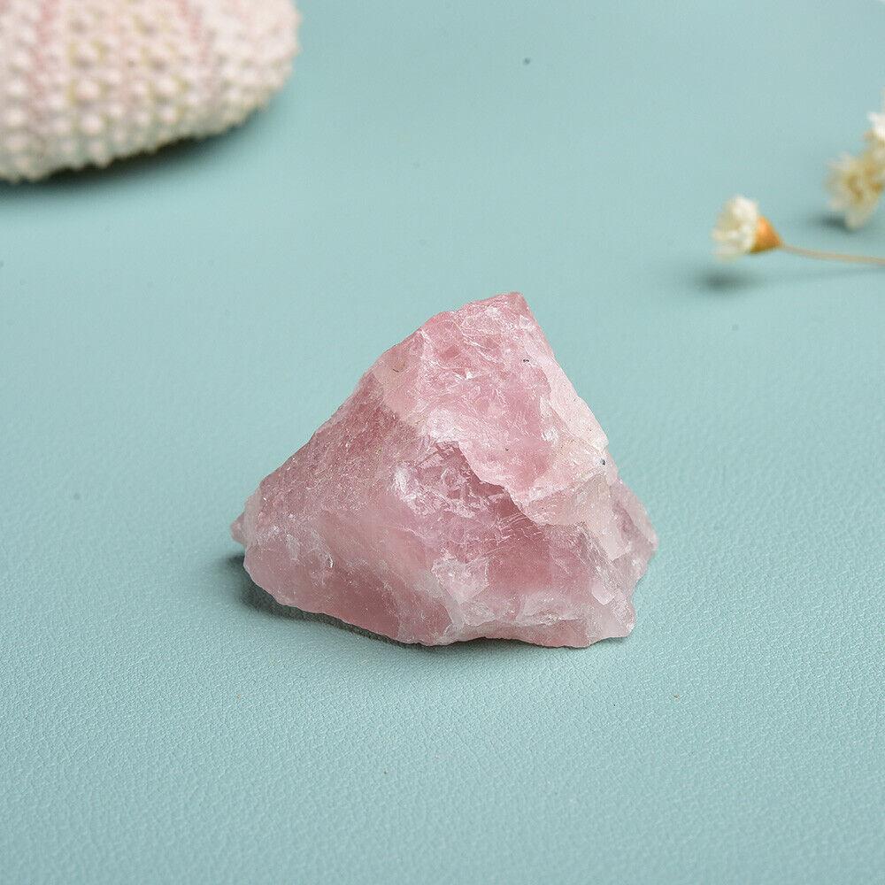 7pcs//set Heart Selenite Stick Rose Quartz Raw Rough Crystal Reiki Healing Stone
