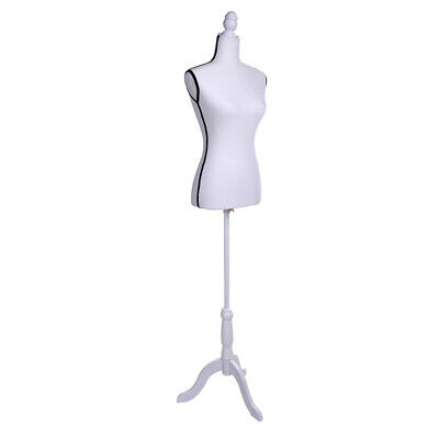 Female Mannequin Torso Dress Form Display W Mdf Tripod Stand White Black
