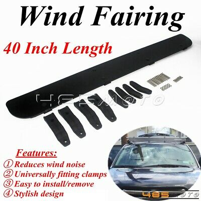 "40"" Car Roof Racks Cargo Box Racks Plastic Windshield Wind Fairing Air Deflector"