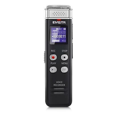 Voice Recorder Evistr 8GB Digital Audio Sound Recorder Dicta