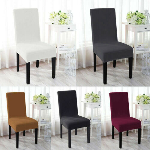 Details About 4 6x Stretch Spandex Chair Covers Removable Slipcovers Kitchen Dining Room Party