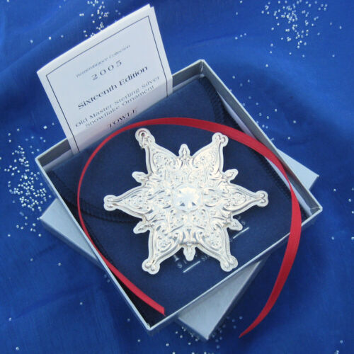NEW • Towle 2005 Old Master SNOWFLAKE Sterling Silver Christmas Ornament 16th Ed
