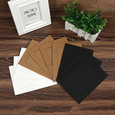 10pcs Paper Picture Frames DIY Cardboard Photo Frame With Clips & String Hot #ur](Cardboard Photo Frames)