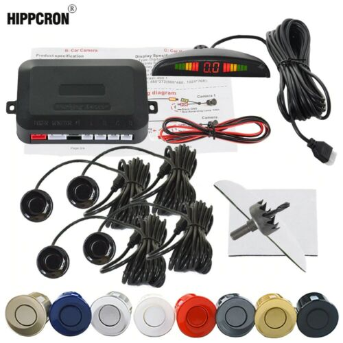 Parking Reverse Car Sensor System Alarm Backup Radar 4 Kit Sensors 8 colors rear