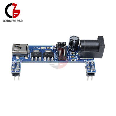 Solderless Mb102 Breadboard Power Supply Module Mini Usb 3.3v 5v For Arduino