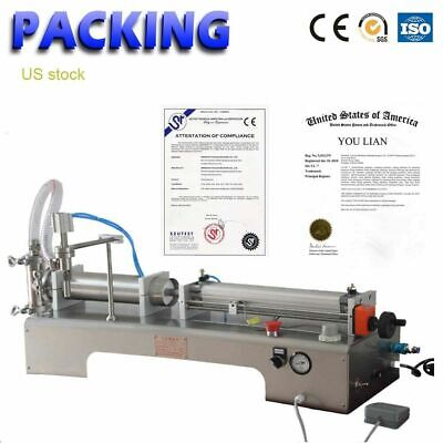 50-500ml Piston Filler 1.7- 17oz Vinegar Soy Sauce Milk Liquid Filling Machine