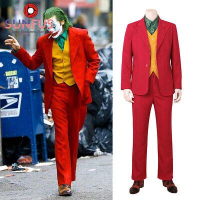 Joker Cosplay Movie Joaquin Phoenix Arthur Fleck Halloween Costume Custom
