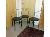 John Lewis stainles steel chairs