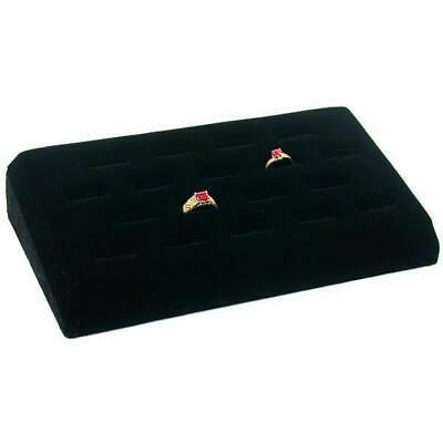 18 Ring Tray Black Velvet Jewelry Showcase Display Box