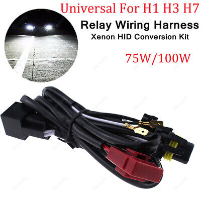 H1 H3 H7 Single Beam HID Ballast To Socket Conversion Kit Relay Wire Harness 12V for sale  Shipping to Ireland