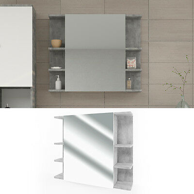 badezimmerspiegel fynn 80 x 64 cm grau beton spiegel spiegelschrank badspiegel ebay. Black Bedroom Furniture Sets. Home Design Ideas