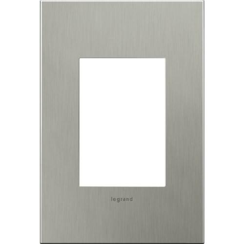 AWC1G3BS4 - LEGRAND ADORNE ONE GANG THREE MODULE WALL PLATE - BRUSHED STAINLESS