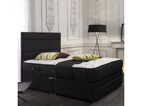 LUXURY DIVAN BED SETS, CHOICE OF 9 STYLES WITH A FREE VELVET HEADBOARD