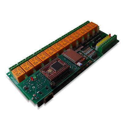 Wifi 802.11 Wireless 12 Channel Relay Module Io Board Web Tcpip Vb6 Bcb6