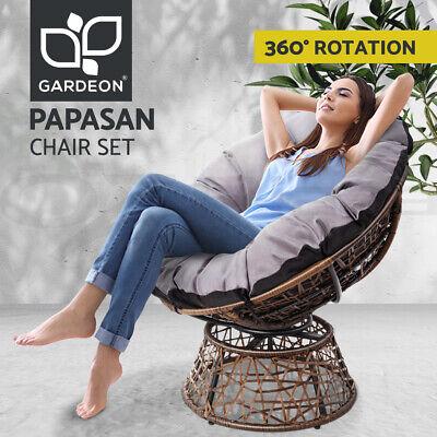 Garden Furniture - Gardeon Outdoor Lounge Setting Furniture Papasan Chairs Wicker Sofa Garden Patio
