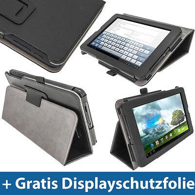 """Schwarz Leder Tasche Für Asus Memo Pad Me172v 7"""" 3g Android Tablet 1632gb Etui"""
