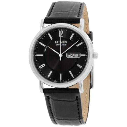 Citizen Black Dial Leather Strap Men's Watch BM8240-03E