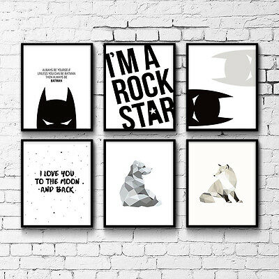 Cartoon Superheroes Batman Motivational Quotes Art Canvas Poster Prints for Kid