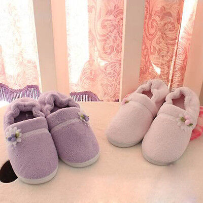 Xmas Floral Women Winter Home Slippers Indoor Bedroom House Warm Plush Shoes