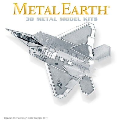 Fascinations Metal Earth F-22 Raptor Aircraft Jet Airplane Laser Cut 3D Model