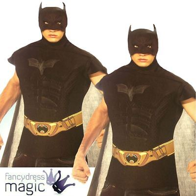 Offiziell Herren Muskel Brust Batman Dark Knight Superhelden Held Maskenkostüm