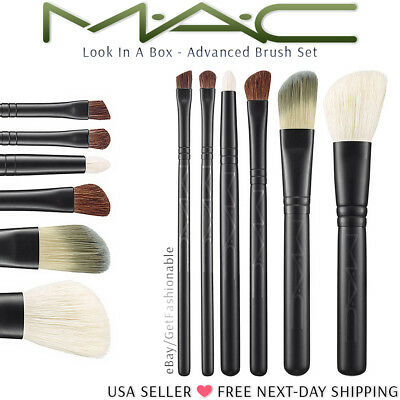 MAC Cosmetics Look in a Box Basic Brush Set New Unboxed Free Shipping (Basic Makeup)