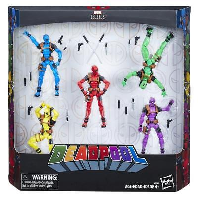 "MARVEL LEGENDS SERIES DEADPOOL RAINBOW SQUAD 5 pack - 3.75"" Figures BRAND NEW"