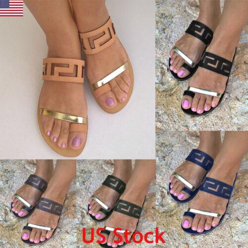 Womens Low Flat Heel Ladies Sandals Flip Flops Slippers Shoe