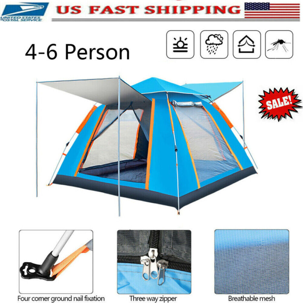 5-6 Person Waterproof Automatic Outdoor Instant Pop Up Tent
