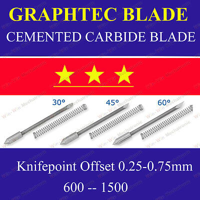 6x Hq 30 Cemented Carbide Blades For Graphtec Cb09 Cutting Cutter Vinyl Plotter
