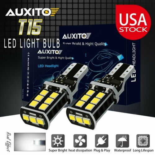 2x T15 912 921 CANBUS LED Cargo Area Light for Ford Trunk Lamp Bulb 6500K 2400LM