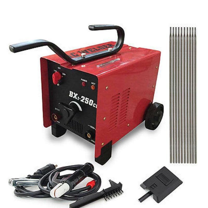 BX1-250C1 ARC Welder 110/220V AC Welding Machine 250 Amp + Mask Accessories Red