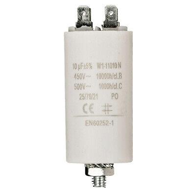 10 uF Kondensator Arbeitskondensator 10,0 µF 450 V Betriebskondensator 66x35mm 35 Uf-kondensator 450v
