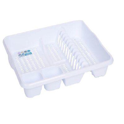 Wham Casa Große Kunststoff Abtropfgestell - Eis weiß