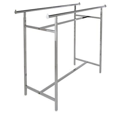 Econoco - Adjustable Double Bar Rectangular Hangrail Rack In Chrome
