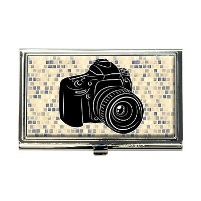 Photographers Camera Business Credit Card Holder Case