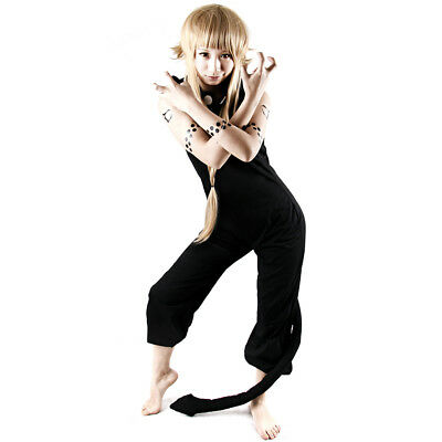 Soul Eater Medusa Black Cosplay Costume Women Jumpsuit with tail
