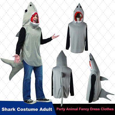 Party Animals Costume (New Halloween Shark Costume Cosplay Adult Party Animal Fancy Dress)